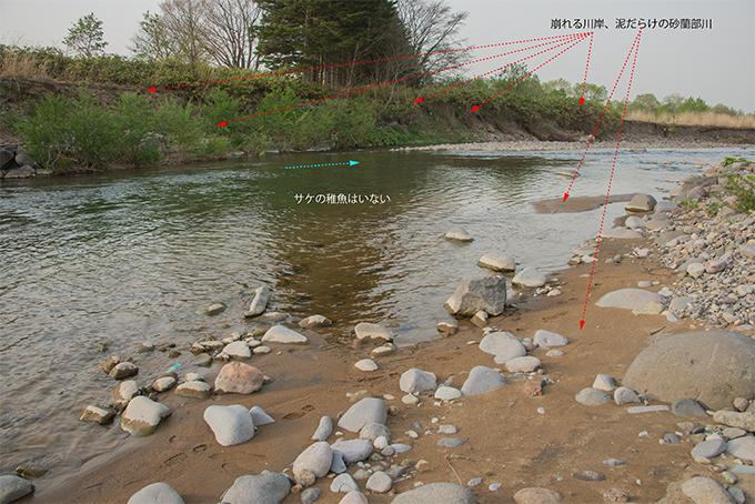 2015-05-06・砂蘭部川・泥だらけの川岸・