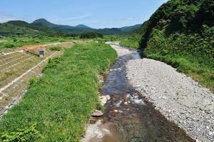 川底は岩盤が露出している。川底や川岸、中州に微細な砂やシルトが目立つ。つまり、砂利が足りないということだ。清流の臼別川だが、雨が降ると…2011年8月3日