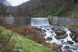 一番上流にある治山ダム