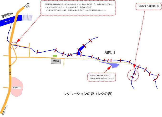 畑内川治山ダム計画
