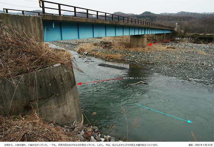 2003年4月25日の額平川の豊糠橋