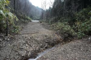 小さな支流のその先にも治山ダムが…