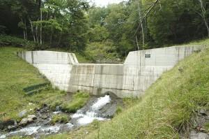 小さな沢に不似合いな大きな治山ダムだ。