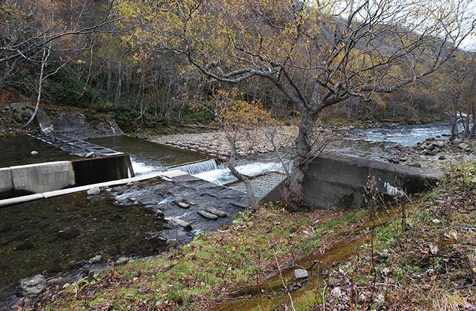 ダムの下流では川底が下がり続ける。