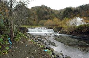 2基の治山ダムがあるうちの一つだ。