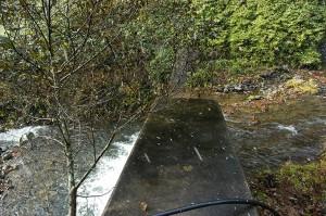 治山ダムは砂利で一杯になっているが、災害を起こすような量でもなければ、土質でもないと思われる。