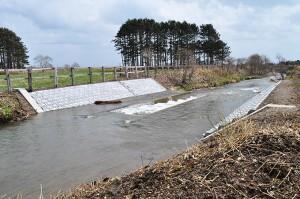 2010-04-30・加工済・山崎川・完成したばかりの魚道の下流の様子・DSC_0174