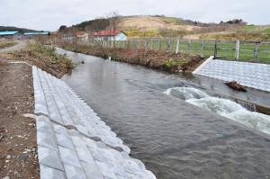2010-04-30・加工済・山崎川・完成したばかりの魚道の下流の様子・DSC_0179