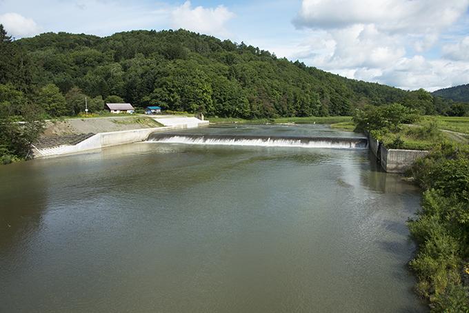 当別ダム下流には農業用取水の堰がある。現在は不要となったが、砂利と止める機能があるので、残すようだ。