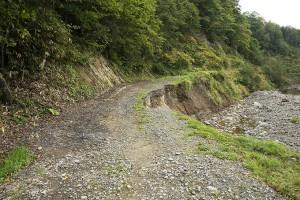 林道が崩壊すれば困ったことになる。