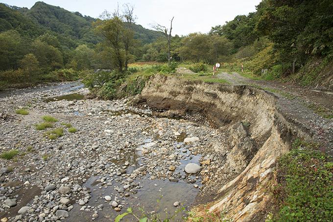 昨年も林道が崩壊した。