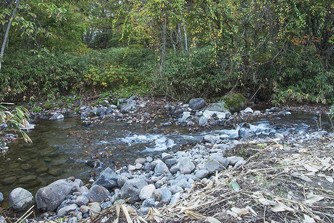 河床路が撤去され、普通の川に戻りつつある。