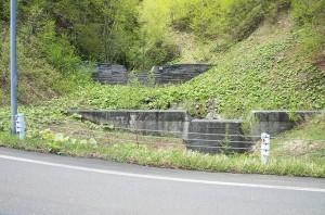 階段状に治山ダムが建設されていた。
