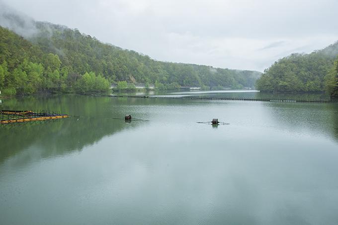 岩松ダムの湛水域