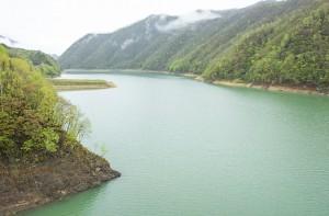 十勝ダムの湛水域