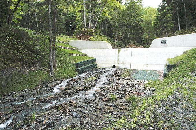 4つ目の治山ダムが見えてきた