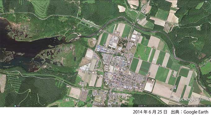 Google Earth・金山ダム湖と冠水区域-000・